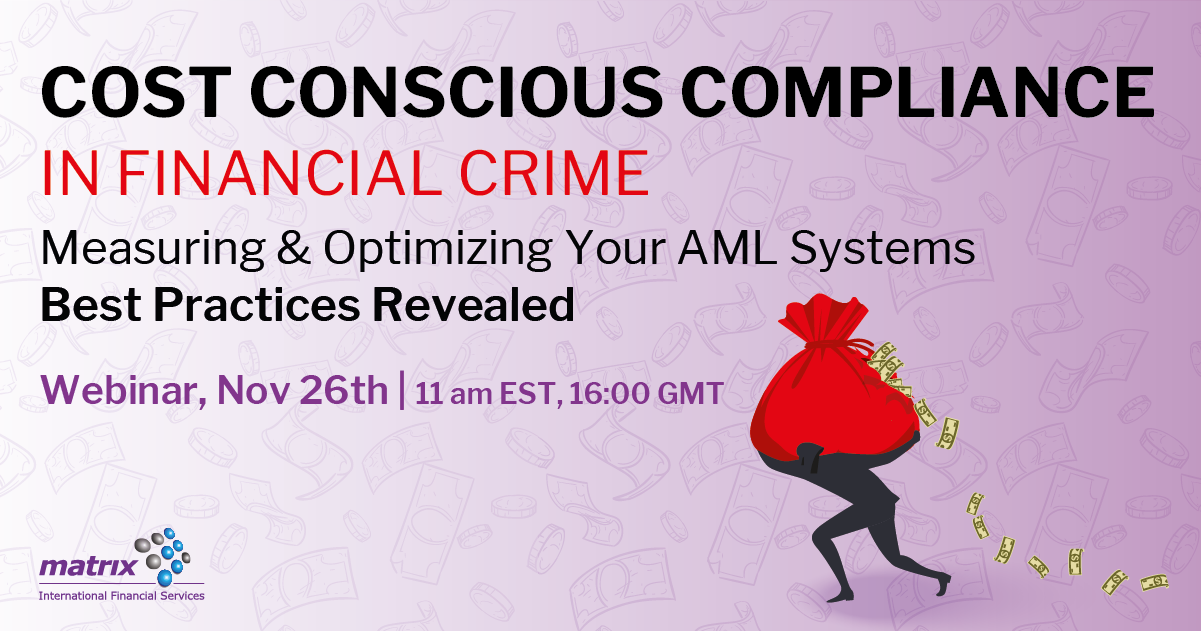 Cost Conscious Compliance in Financial Crime