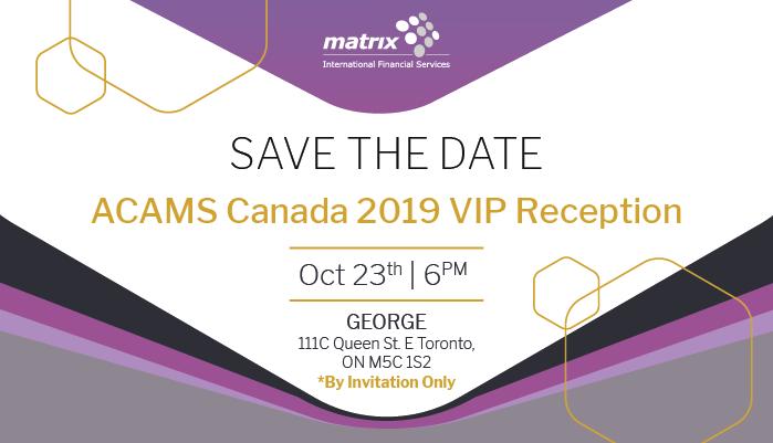 ACAMS Canada 2019 – VIP Reception